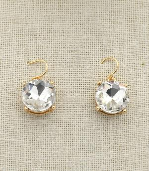 New Arrival :: Round Crystal Dangle Earrings