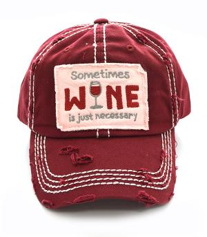 New Arrival :: Sometimes Wine Ballcap