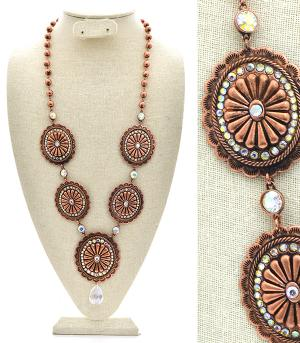 New Arrival :: Rhinestone Concho Necklace Set