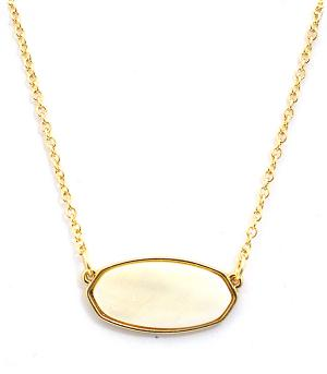 New Arrival :: Trendy Mother Of Pearl Stone Necklace