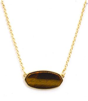 New Arrival :: Trendy Tiger Eye Stone Necklace