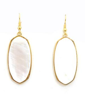 New Arrival :: Mother Of Pearl Stone Fashion Earrings