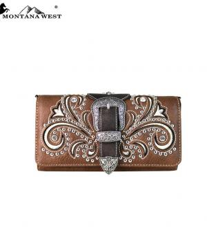 New Arrival :: Montana West Buckle Collection Wallet/Crossbody