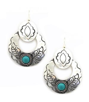 New Arrival :: Engraved Western Theme Earrings