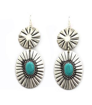 New Arrival :: Western Turquoise Accent Earrings