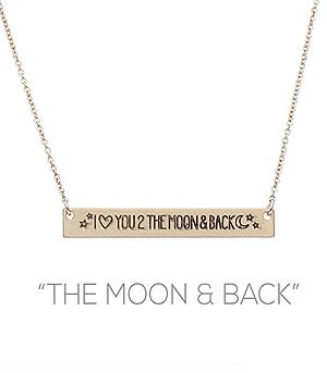 New Arrival :: The Moon & Back Necklace