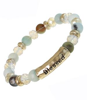 New Arrival :: Blessed Natural Stone Bead Bracelet