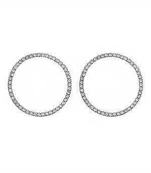 New Arrival :: Crystal Circle Earrings