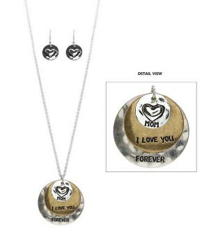 New Arrival :: Mom I Love You Necklace Set