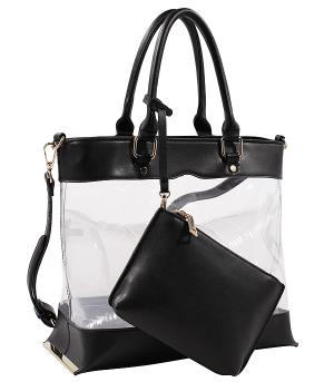 New Arrival :: 2PC Clear Fashion Tote