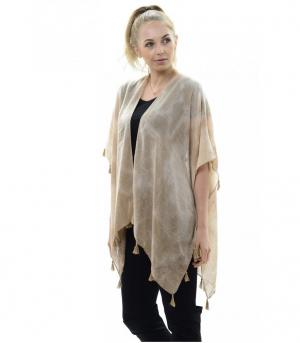 New Arrival :: Solid Color Kimono With Fringe