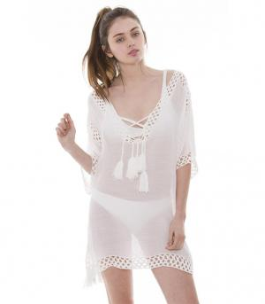 New Arrival :: Crochet Cover Up With Tassels