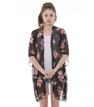 New Arrival :: Lightweight Bold Floral Print Kimono