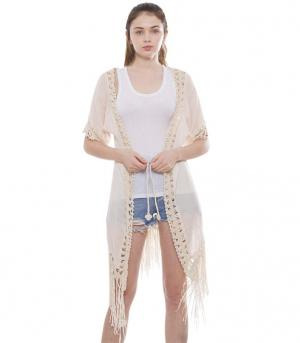 New Arrival :: Crochet Vest With Fringe