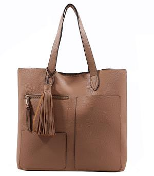 New Arrival :: 2PC Textured Tote Bag Set