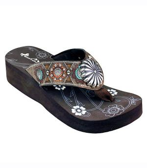 New Arrival :: Montana West Embroidered Collection Flip Flops
