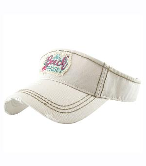 New Arrival :: Beach Please Embroidered Visor