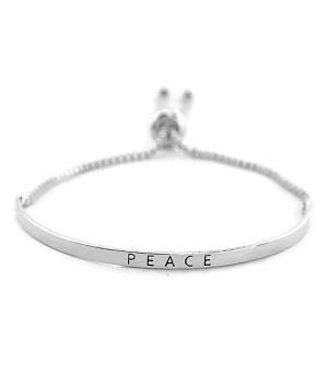 New Arrival :: Peace Bar Bracelet