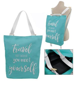 <font color=black>SALE ITEMS</font> :: HANDBAGS | TRAVEL :: Meet Yourself Tote/Backpack