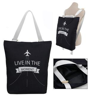 <font color=black>SALE ITEMS</font> :: HANDBAGS | TRAVEL :: Live In The Moment Tote/Backpack