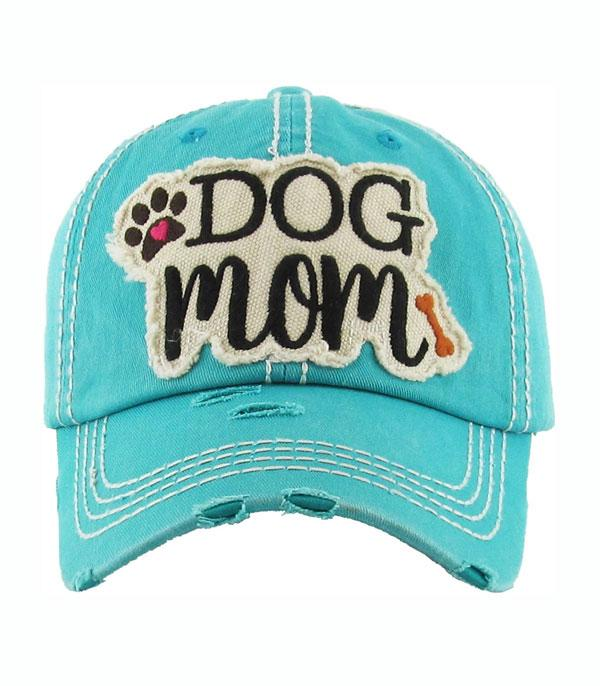 New Arrival :: Wholesale Dog Mom Vintage Ball Cap