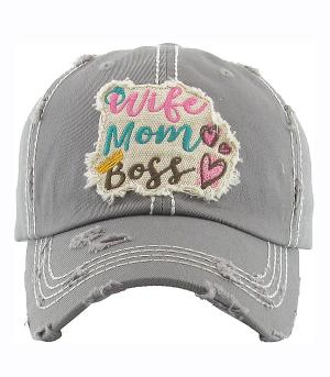 New Arrival :: Wife Mom Boss Vintage Ball Cap
