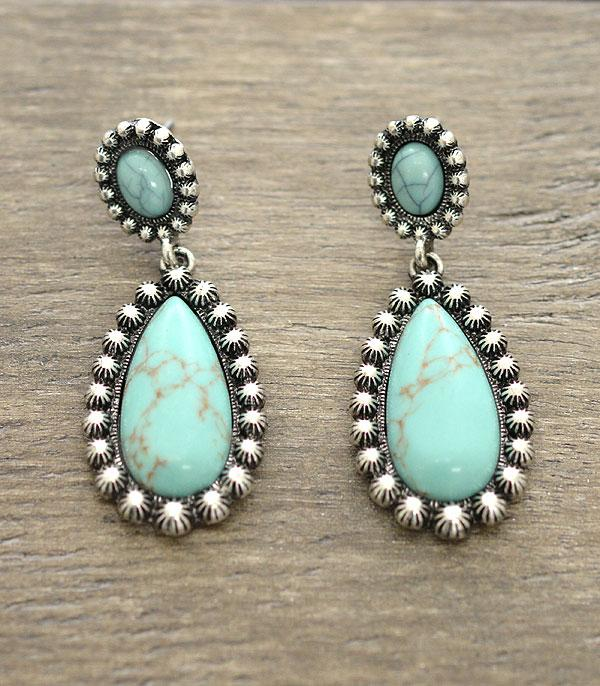 New Arrival :: Turquoise Stone Earrings