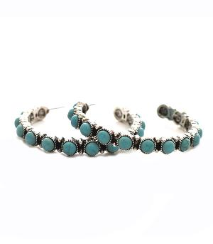 New Arrival :: Turquoise Hoop Earrings