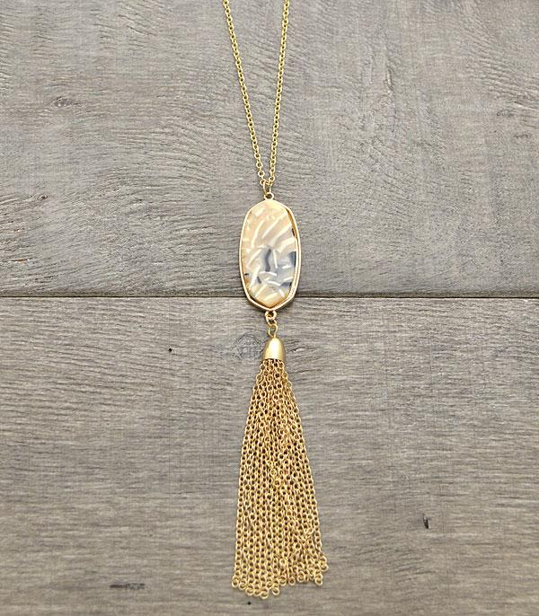 New Arrival :: Marble Stone Pendant Necklace