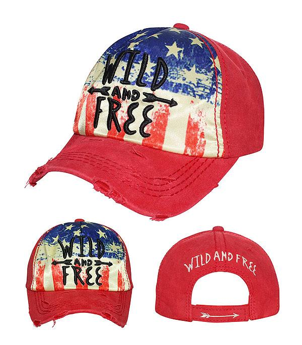 New Arrival :: Wild And Free Ballcap