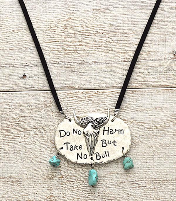 New Arrival :: Do No Harm But Take No Bull Necklace