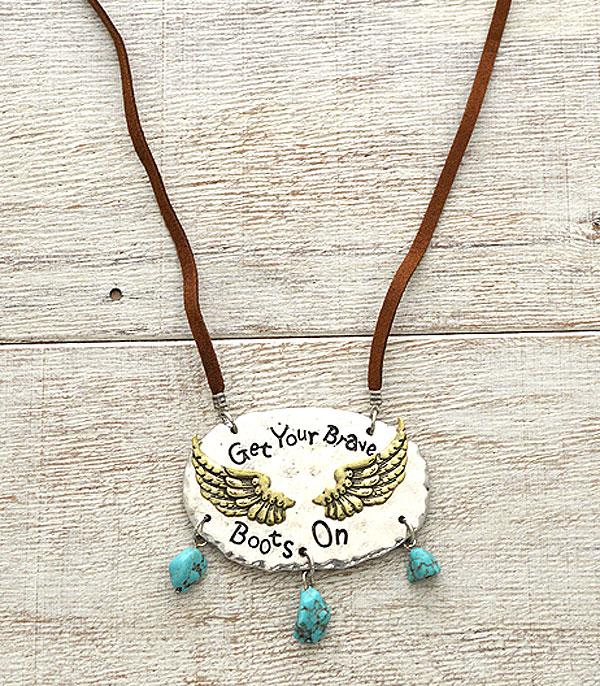 New Arrival :: Get Your Brave Boots On Necklace