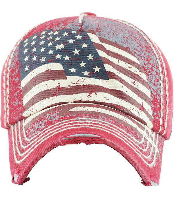 <font color=Red>RED,WHITE, AND BLUE</font> :: American Flag Ballcap