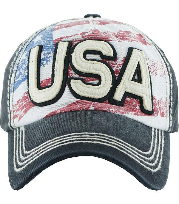 <font color=Red>RED,WHITE, AND BLUE</font> :: USA Ballcap