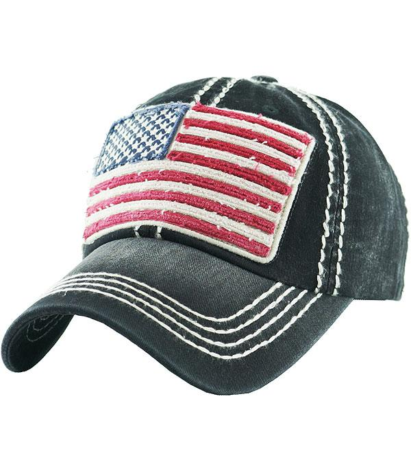 New Arrival :: Wholesale American Flag Vintage  Ballcap