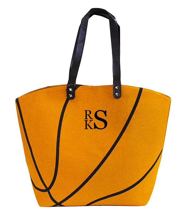 SPORTS THEME :: BASKETBALL | VOLLEYBALL :: Basketball Tote Bag