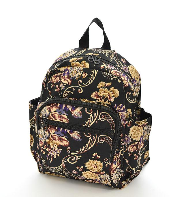 TRAVEL :: BACKPACKS | LUNCH BAGS :: Floral Pattern Backpack