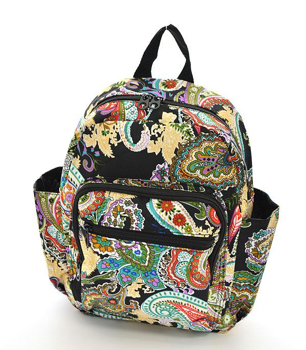 TRAVEL :: BACKPACKS | LUNCH BAGS :: Paisley Pattern Backpack
