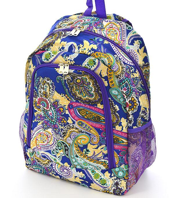 TRAVEL :: BACKPACKS | LUNCH BAGS :: Paisley Print Backpack