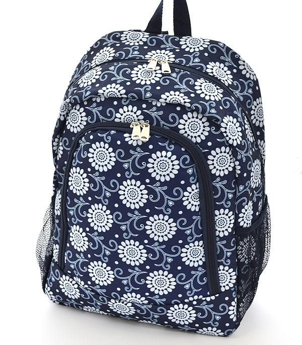 TRAVEL :: BACKPACKS | LUNCH BAGS :: Sunflower Pattern Backpack