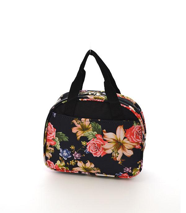 TRAVEL :: BACKPACKS | LUNCH BAGS :: Rose Lilly Print Lunch Bag
