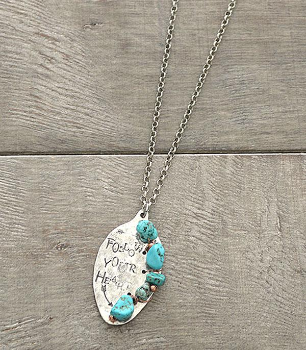 <font color=Turquoise>TURQUOISE JEWELRY</font> :: Follow Your Heart Spoon Necklace