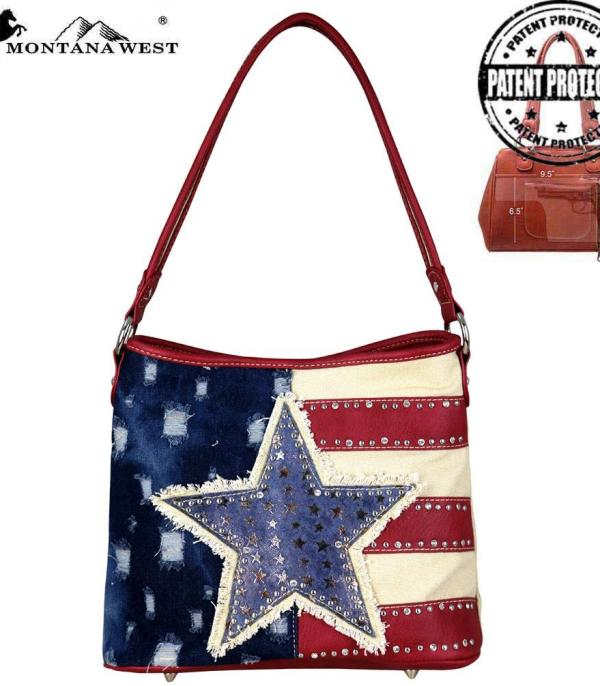 <font color=Red>RED,WHITE, AND BLUE</font> :: Montana West American Pride Hobo