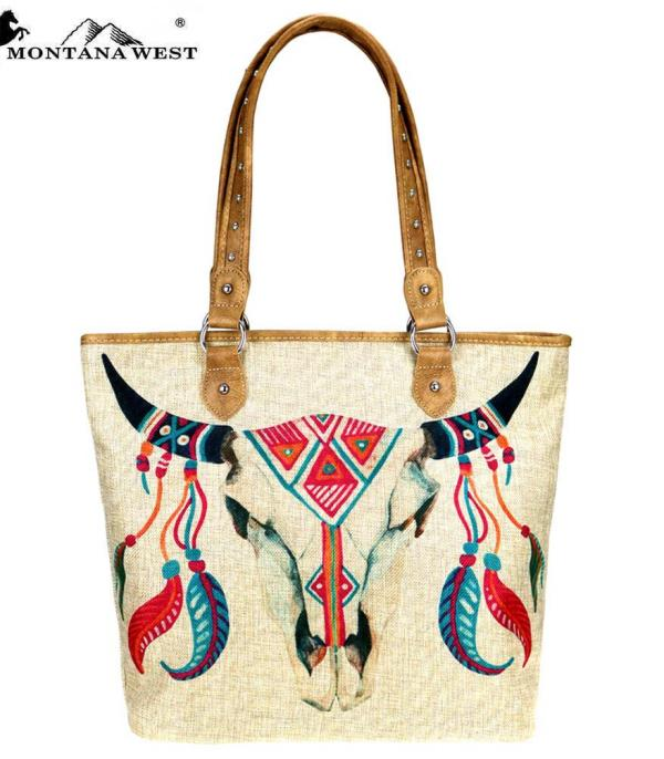 New Arrival :: Montana West Native American Painted Tote Bag