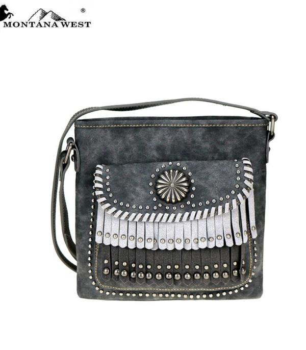 New Arrival :: Montana West Concho/Fringe Collection Crossbody