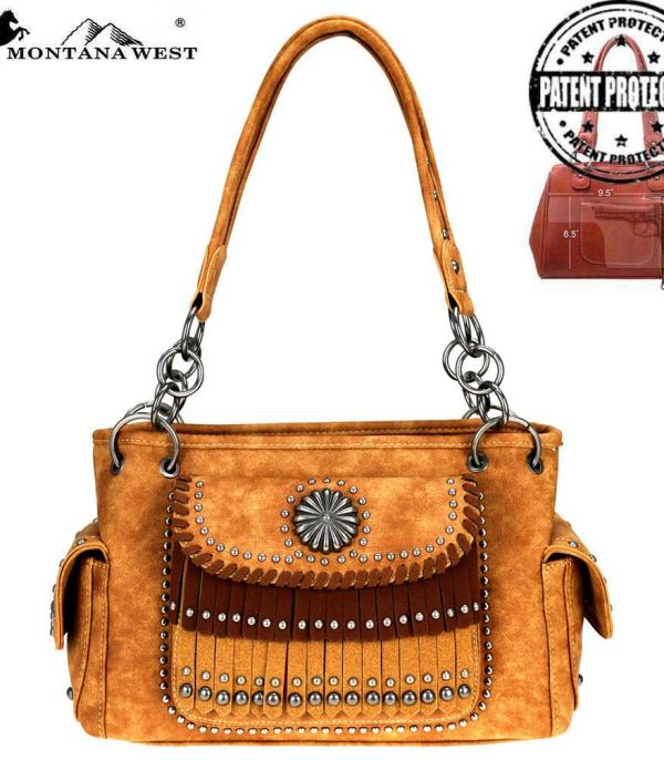 New Arrival :: Montana West Concho/Fringe Collection Satchel