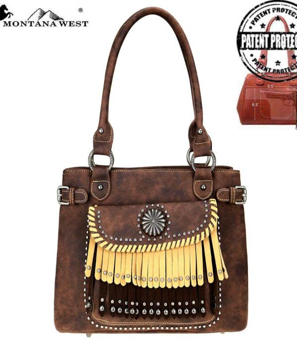 New Arrival :: Montana West Concho/Fringe Collection Tote