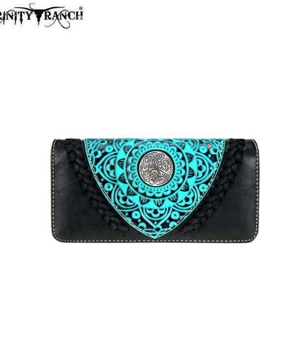 New Arrival :: Trinity Ranch Tooled Collection Wallet/Wristlet