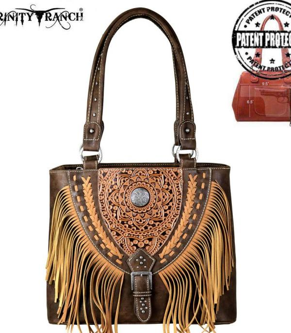 New Arrival :: Trinity Ranch Tooled Collection Conceal Carry Tote
