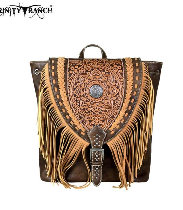 New Arrival :: Trinity Ranch Tooled Leather Collection Backpack
